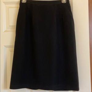 Beautiful black wool pencil skirt